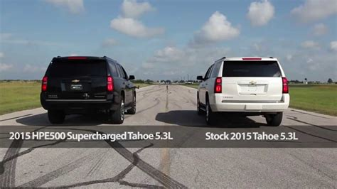 hpe supercharged tahoe drag race dyno test youtube