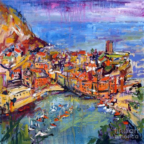 Italy Vernazza Cinque Terre Painting By Ginette Callaway
