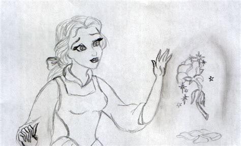 drawing  belle disney princess fan art