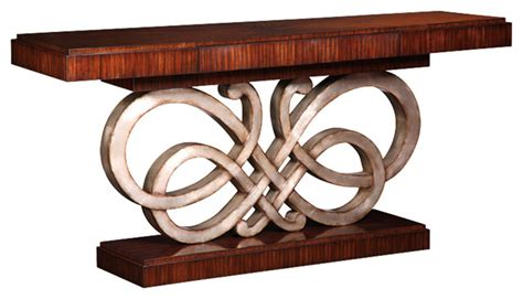Marge Carson Sofa Table by Marge Carson Bossa Console Contemporary Console