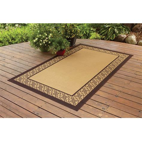 Walmart Patio Area Rugs by Better Homes And Gardens Indoor Outdoor Bamboo Border