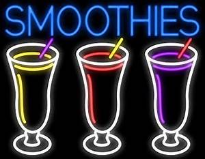 Smoothies 3 Logo Neon Sign Made In USA Amazon