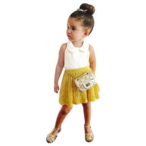 2pcs Girls Clothes Children Set Summer Toddler Kids Baby Girls Outfits T Shirt Tops+Skirt Dress ...