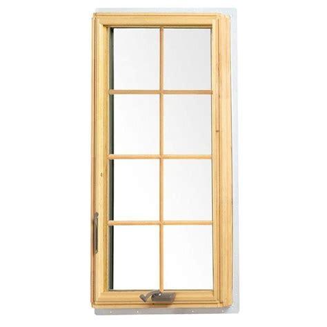 andersen      white  series casement wood window  white exterior