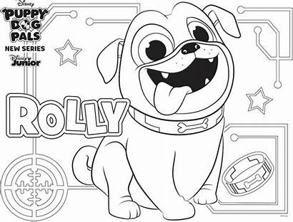 Coloring Puppy Rolly Disney Pages Pals Dog