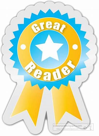 Reader Award Sticker Clipart Student Motivational Holding