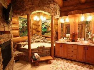Log cabin bathroom dream home pinterest for Log cabins with bathrooms