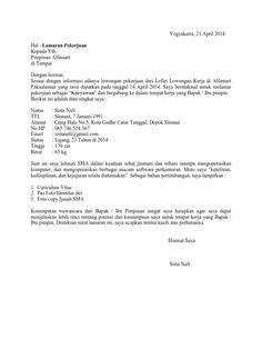 contoh surat lamaran pramugari contoh top