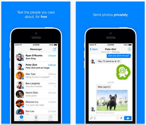 messenger for iphone launches redesigned messenger app