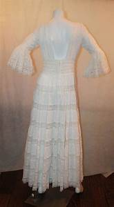 197039s vintage white lace and cotton mexican wedding dress With mexican wedding dress for sale