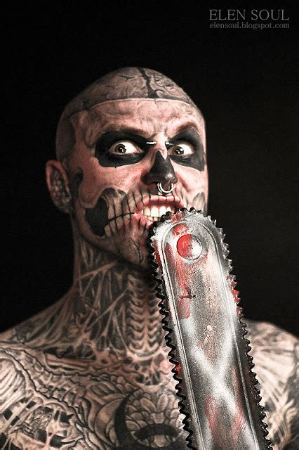 elen soul tattoo convention  zombie boy