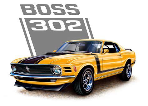 muscle car cartoon drawings clipart