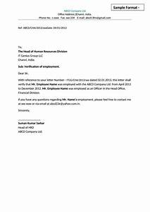Sample Letter Of Reference For Job Sample Employment Eligibility Verification Letter Template