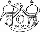 Synagogue Coloring Pages Clipart Clip Buildings Cliparts Library Freecoloringpagefun sketch template