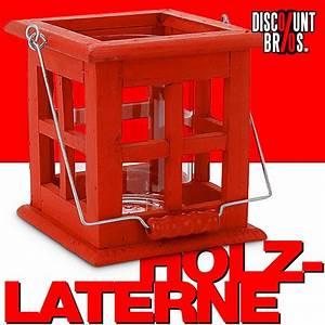 Windlicht Laterne Holz : rote laterne windlicht aus holz 13 5 13 5 14cm bau garten garten ~ Bigdaddyawards.com Haus und Dekorationen