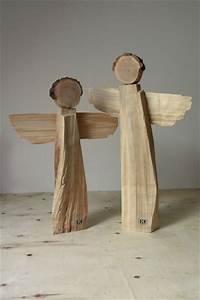 Weihnachtsbasteln Mit Holz : deko objekte handgefertigtes holzengelpaar unikate ein designerst ck von bk s kleine ~ Udekor.club Haus und Dekorationen
