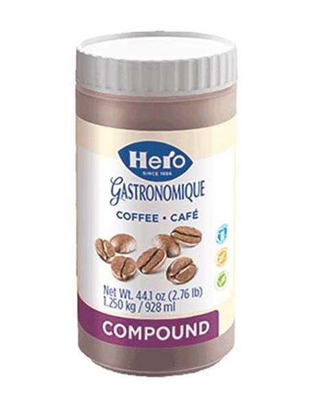 Coffee and fresh made to order bagel. Hero Coffee Compound 2.76lb HE1048 - The Pastry Depot