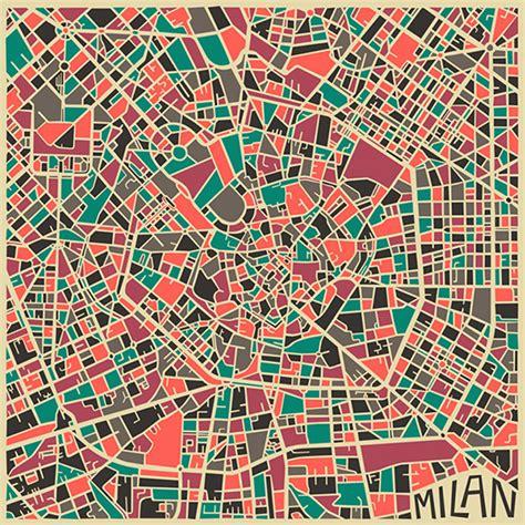 modern abstract city maps design crush