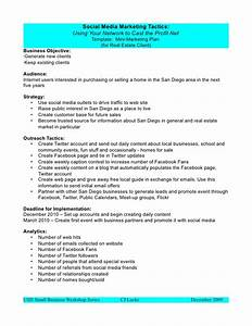 social media marketing plan template With advertising media plan template