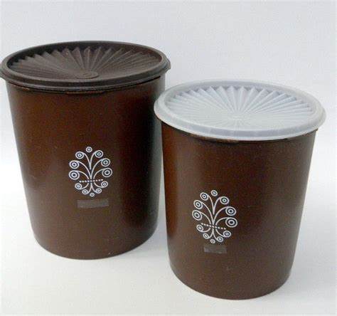 brown kitchen canisters tupperware canisters set of 2 chocolate brown servalier nesting with lids kitchen and dining