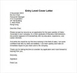 entry level cover letter for resume entry level cover letter templates 9 free sles exles format