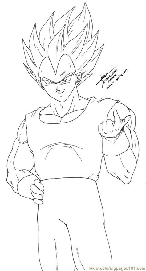 vegeta   art  hirokada coloring page  vegeta coloring pages coloringpagescom