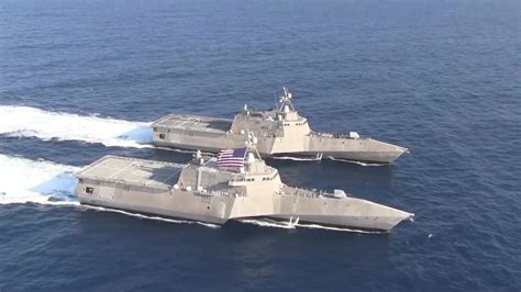 Catamaran Ship Navy by Us Navy Littoral Combat Ships Lcss Sailing In
