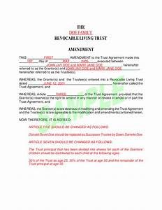 sample living trust free download With sample living trust document
