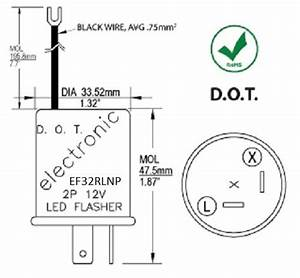 Ef32rlnp Electronic Led Compatible Turn Signal Flasher