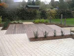 Pavé De Bois : superbe terrasse pave et bois 6 terrasse bois avec frise ~ Premium-room.com Idées de Décoration