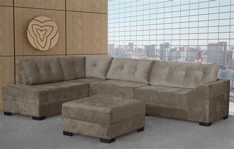 sofa de canto puff vermelho sof 225 de canto 2 e 3 lugares puff bom pastor mil 227 o