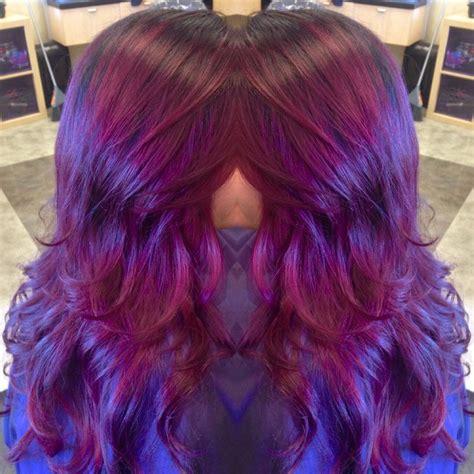 magenta shadow root hair colors ideas