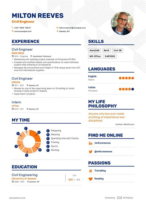 civil engineer resume exle and guide for 2019
