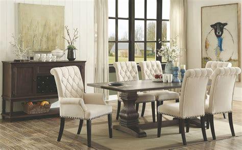 parkins rustic espresso rectangular dining room set