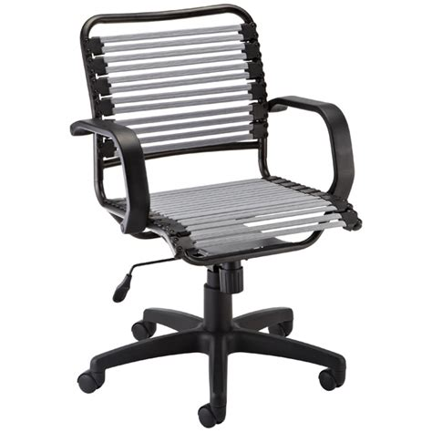 silver flat bungee office chair with arms the container
