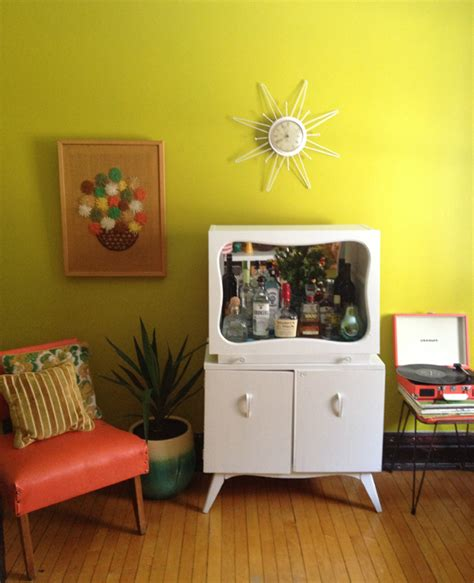 Bar Makeover by Oh So Lovely Vintage My Vintage Bar Cabinet Makeover