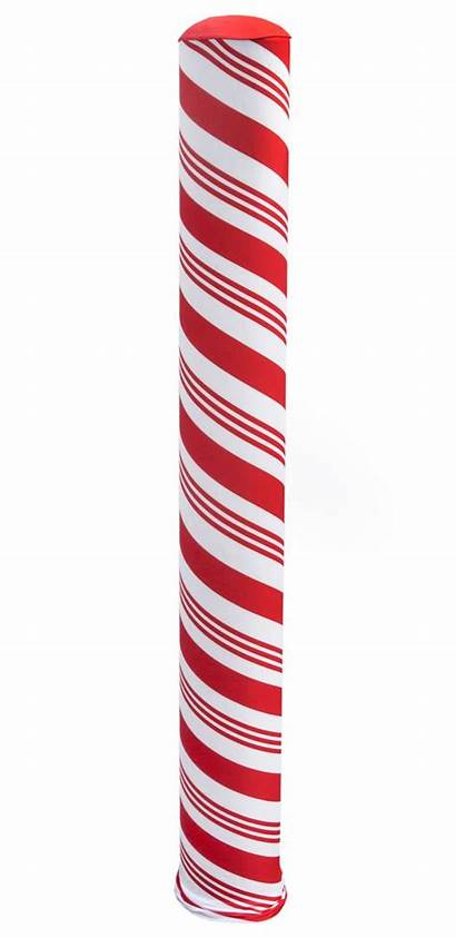 Bollard Candy Cane Holiday Stretch Covers Displays2go