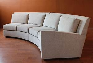 Round sectional sofa divani casa genevieve modern for Wrap around sofa bed