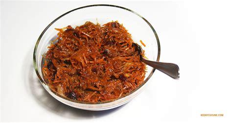 cuisine carottes chutney aux carottes et canneberges kedny cuisine