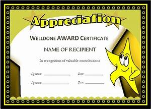 well done award certificates With well done certificate template