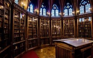 Library Interior Hd Wallpaper