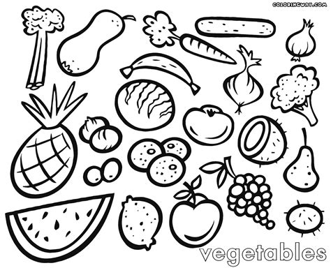 fruits  vegetables drawing  getdrawingscom