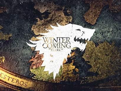 Thrones Stark Winter Coming Wolf Map Direwolf