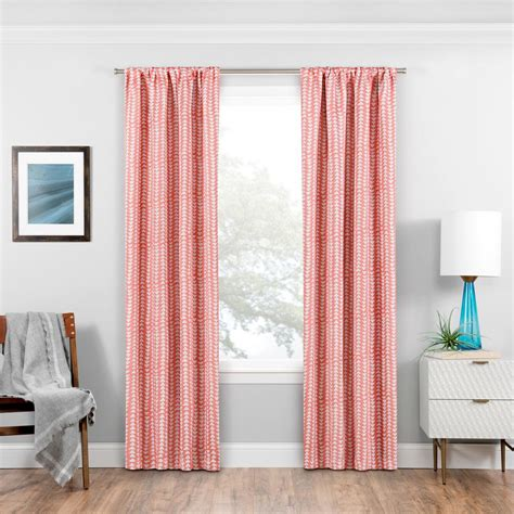 coral colored curtains drapes eclipse blackout naya 95 in l coral rod pocket curtain