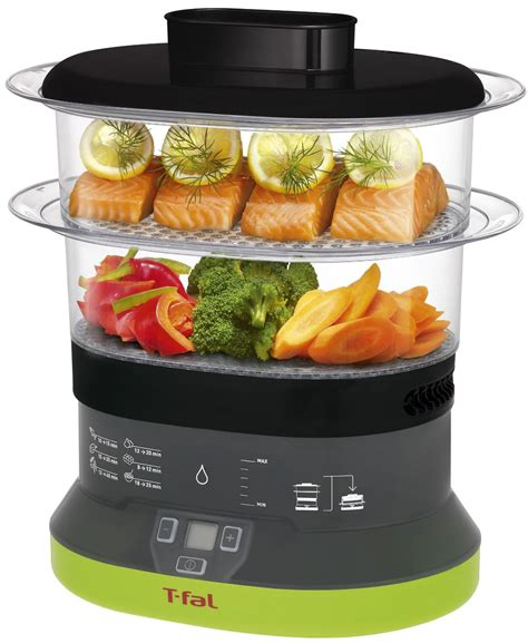 steamer cuisine t fal balanced living 2 tier food steamer compact electric
