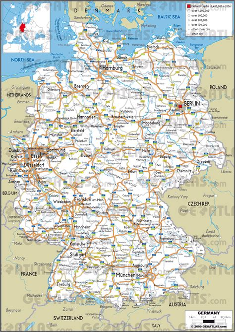 city map  germany  travel information