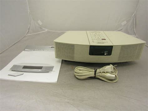 bose wave radio awr1 1w am fm clock radio white tested bundled w manual ebay