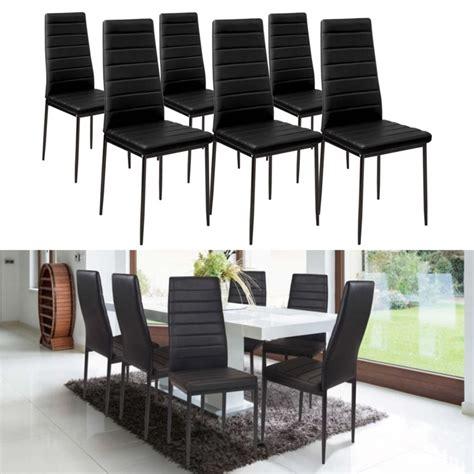 lot de 6 chaises noires lot de 6 chaises romane noires pour salle à manger meubles