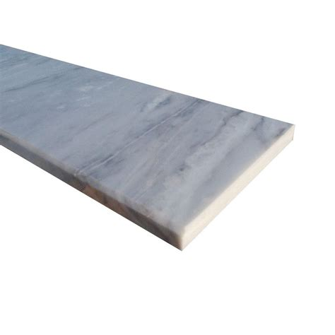 white threshold ms international white single bevelled threshold 6 in x 54 in polished marble floor and wall