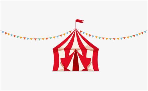 Lindo Gráfico De Vetor De UMA Tenda De Circo, Listrado